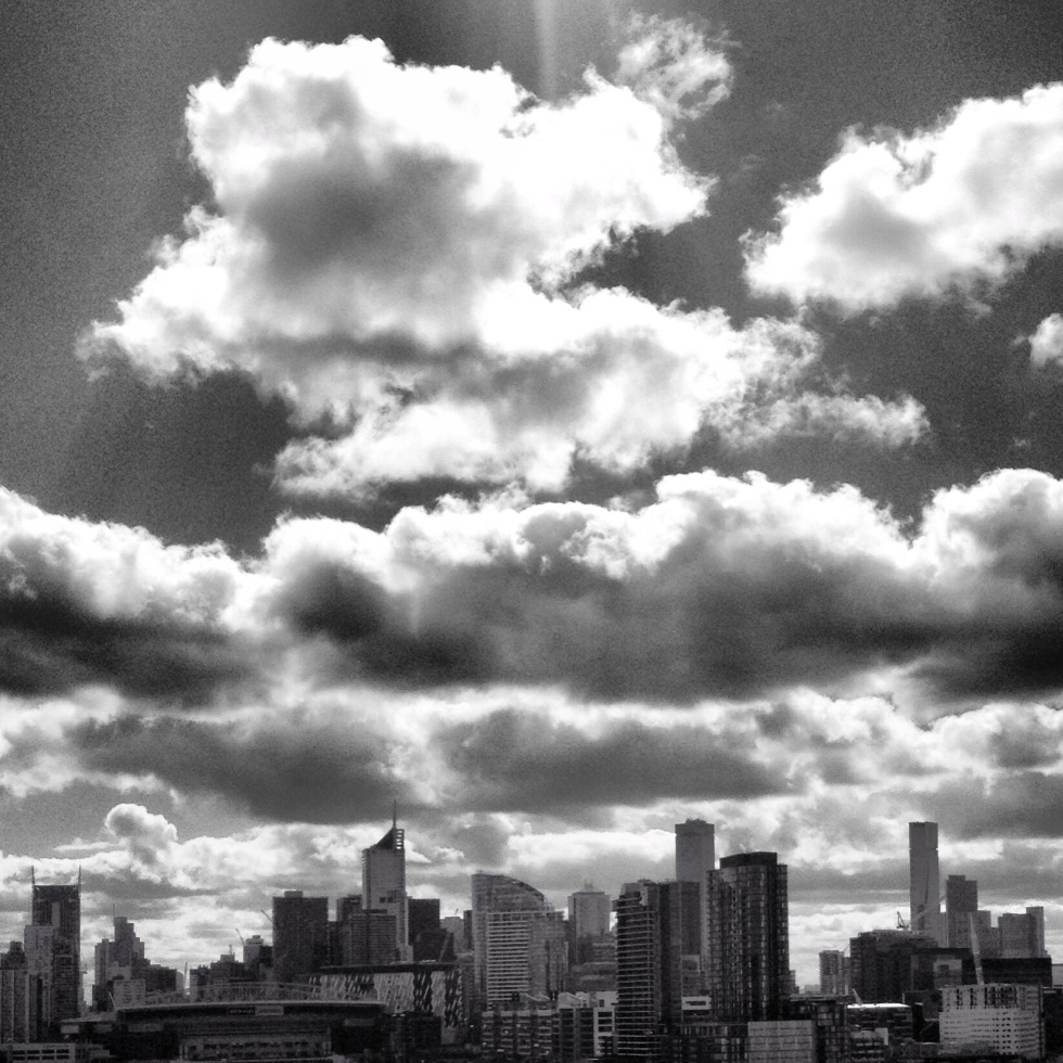 Melbourne Skyline, view from Bolte Bridge