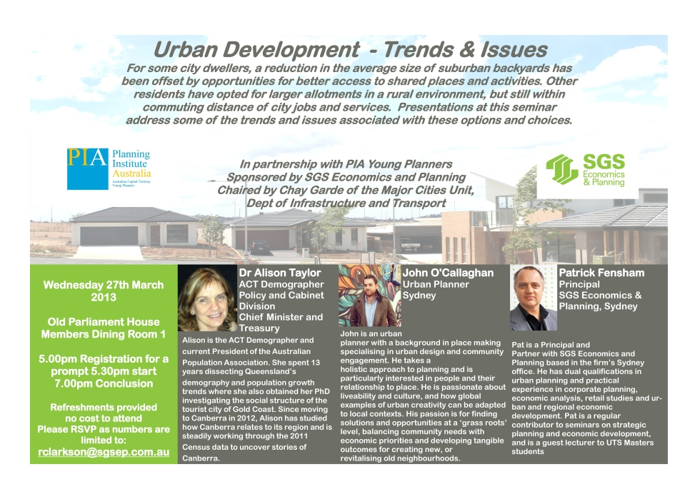 Urban Development - Trends and Issues Flyer