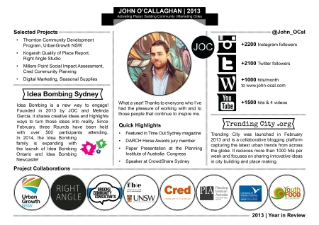 John O'Callaghan 2013 Year in Review