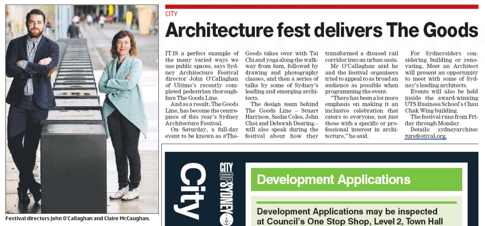 Architecture Central Magazine John O'Callaghan JOC Consulting Archrival Claire McCaughan Sydney