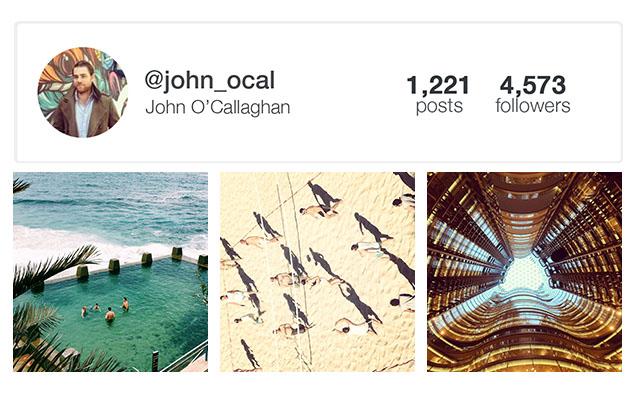 John O'Callaghan Instagram Time Out Sydney
