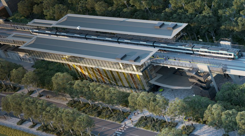 Kellyville Station aerial view Sydney Metro JOC Consulting Place Activation